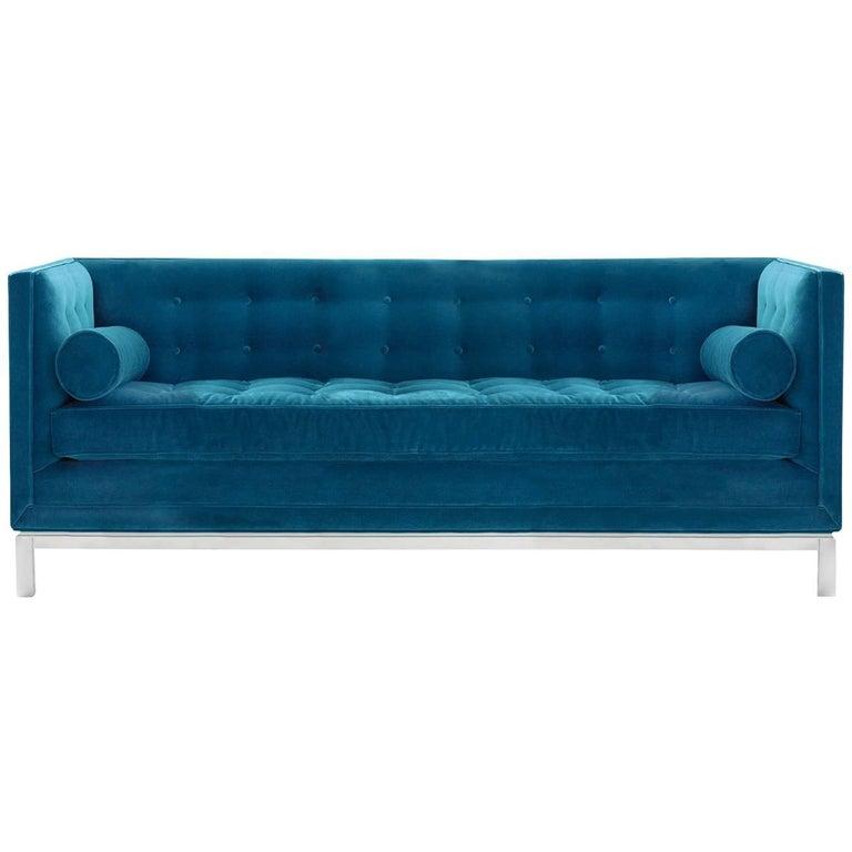 Lampert Sofa in Peacock Velvet