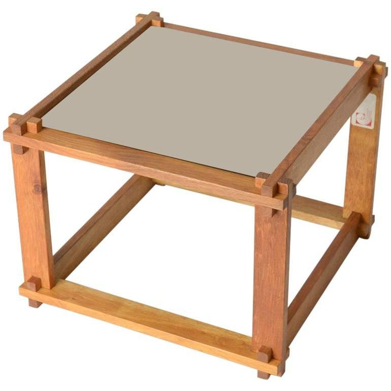 Rare Cubist Side Table For Sale