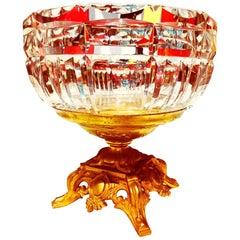 Saint Louis Crystal with Gilt Bronze