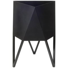 Deca Planter in Flat Black Steel, Medium, by Force/Collide