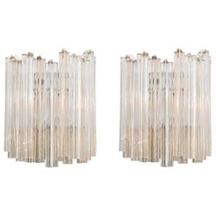 Pair of Wall Lamps by Venini, Italy, circa 1960