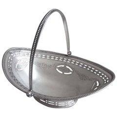 George III Sweetmeat Basket made in London in 1786 by Hester Bateman.