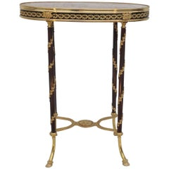 French Mid-19th Century Louis XVI Style Gilt and Lacquered Bronze Guéridon
