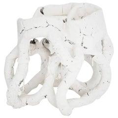 "Ceramic Vase Model ""White Species N 1601"" by Bente Skjøttgaard, Denmark, 2016"