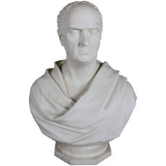 Oversized English Copeland Parian Bust of Duke of Wellington by King