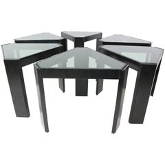 Porada Arredi Geometric Stackable Nesting Tables the Complete Set of Six