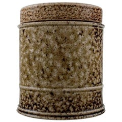 Kähler, Denmark, Glazed Stoneware Lidded Jar by Nils Kähler