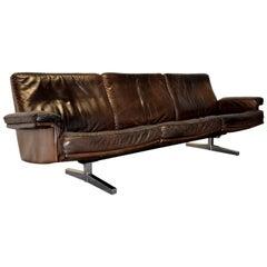 Vintage De Sede DS 35 Three-Seat Leather Sofa, 1960s