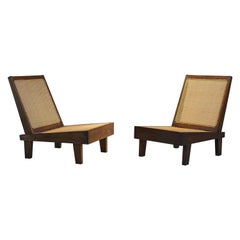 Pierre Jeanneret, Folding Chairs, PJ-SI-61-A, Chandigarh, Teak and Cane