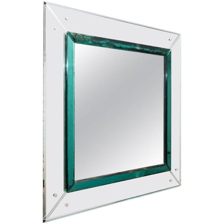 Murano Glass Mirror, Italy, circa 1950 1