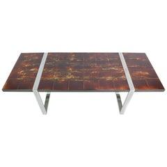 Juliette Belarti Ceramic Tiles Midcentury Coffee Table