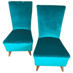 Pair of French 1940s Slipper Chairs