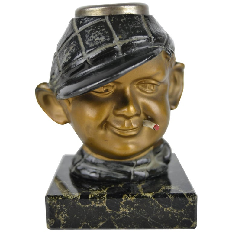 1930s Electric Cigar Lighter Man with Cigarette