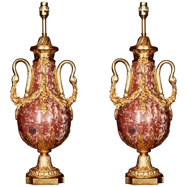Pair of Neoclassical Cassolettes, Late 19th Century