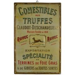 Early 20th Century French Advertising Sign Delicacy Shop Paris