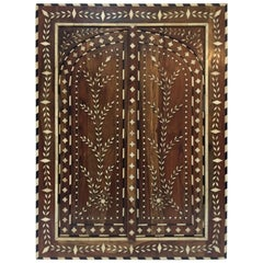 Vizagapatam Anglo-Indian Mirror Inlaid with Ox Bone