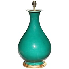 Chinese Green Glazed Craquelure Vase