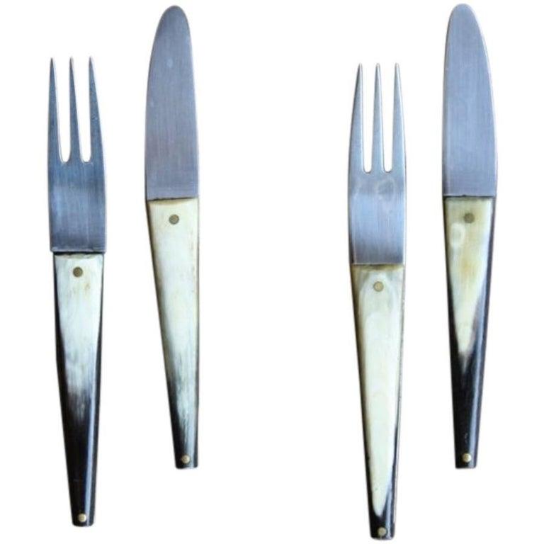 Carl Auböck Set of Two Forks & Knives #1