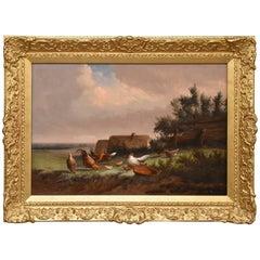 """""""Hens in Landscape"""" by Johan Leemputten"""