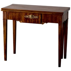 Table Game Table Swedish Karl Johan, 19th Century,  Light Mahogany Sweden