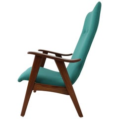 New Upholstered High Back Lounge Chair by Louis Van Teeffelen for Webe