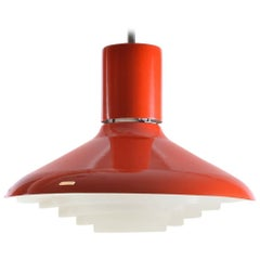 Red Midcentury Ceiling Light by Napako, Czechoslovakia, 1960