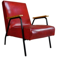 "Pierre Guariche French Design of the 1950s Armchair ""Rio"" Model for Meurop"