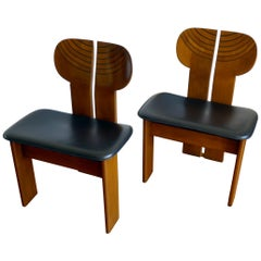 Pair of Africa Chairs by Afra and Tobia Scarpa, Maxalto Artona Series
