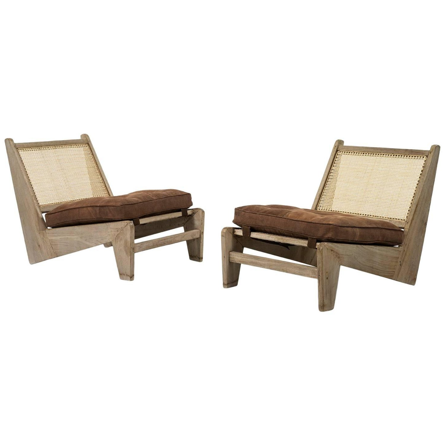 Pierre Jeanneret Folding Chairs PJ SI 61 A Chandigarh Teak and