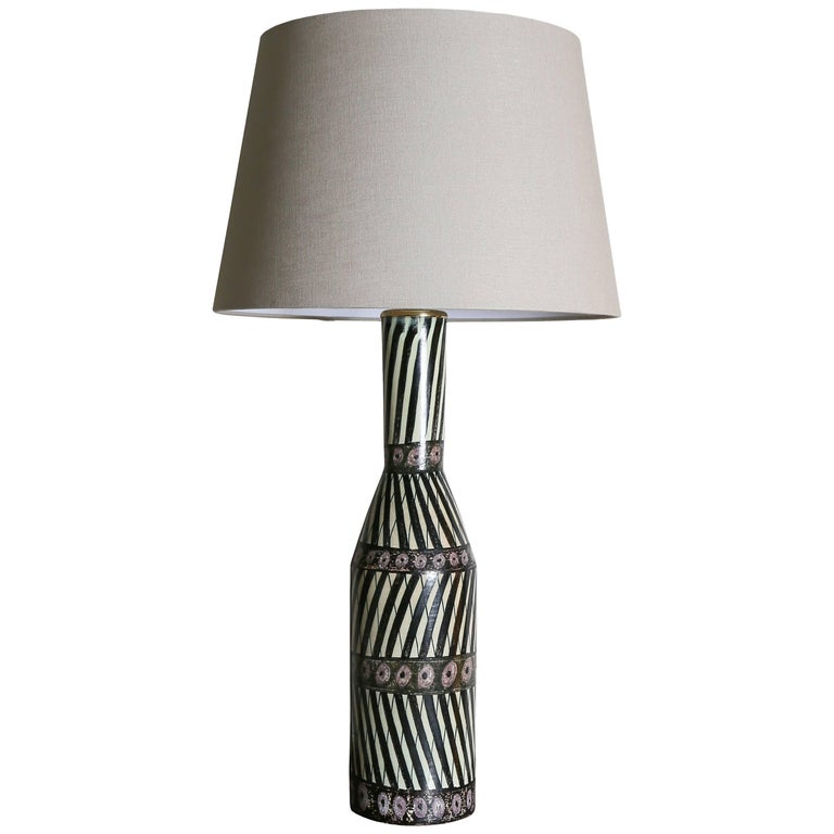 Ceramic Table Lamp Carl-Harry Stålhane & Aune Laukkanen, Large Example, 1955 For Sale