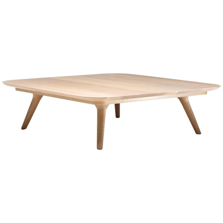 Moooi Zio Coffee Table by Marcel Wanders in Stained Solid Oak in Two Sizes