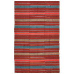Antique Flat-Woven Shahsavan Caucasian Kilim Rug