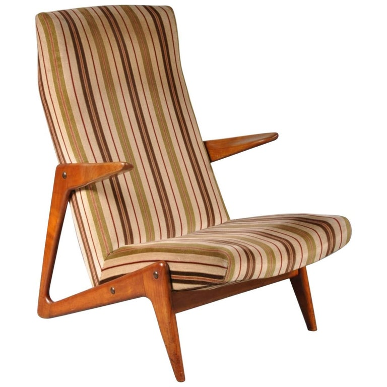 Lounge Chair Attributed to Alfred Hendrickx for Belform, Belgium, 1950s For Sale