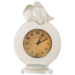 """R. Lalique Pendulette Huit Jours """"Pierrots"""""""
