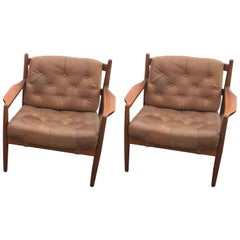 Mid-Century Modern Pair of Armchairs by Ingemar Thillmark