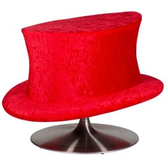 Chillin'dro Turntable Unconventional Stool Top Hat Elegant, Formal or Broadway