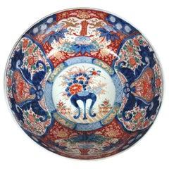 Large Japanese Meiji Period Imari Bowl