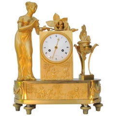 "French Empire Ormolu Mantel Clock, ""the Birth of Love"""