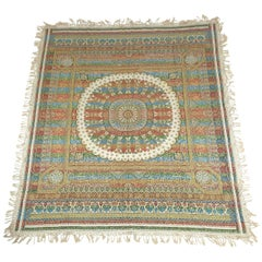 Early 20th Century Indian Worked Silk Wall Hanging or Bed Cover