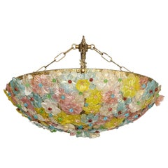 "A Mid-Century Murano ""Flower Basket"" Flush Mount by Barovier & Toso"