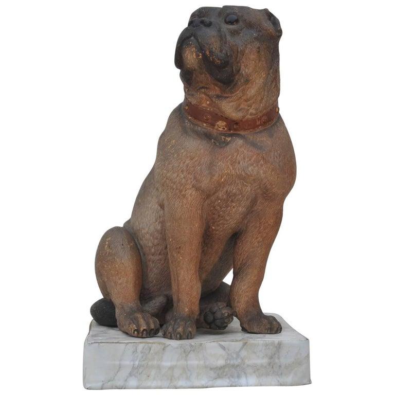 Terracotta Figure of a Bull Dog, Bergman Workshop, circa 1890
