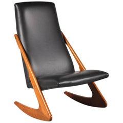 Mogens Kold Boomerang Rocking Chair, Denmark, 1960