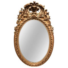 19th Century French Napoleon III Giltwood and Gesso Wall Mirror