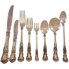 Buttercup by Gorham Sterling Silver 12 Service Flatware Set Place Size 113 Pcs