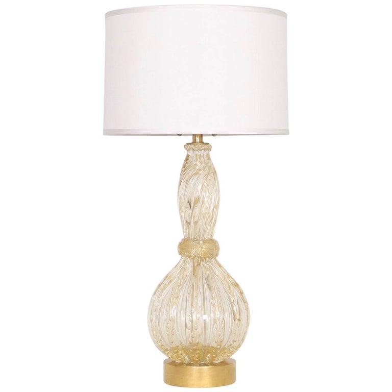 Barovier & Toso Hollywood Regency Murano Glass Table Lamp