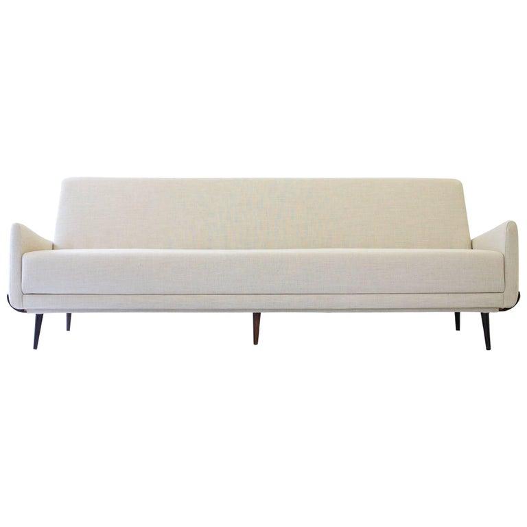 'So 801' 4 Seat Rosewood Sofa by Jorge Zalszupin, Brazil, 1960s