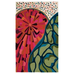 Angela Adams Sunset Area Rug and Tapestry, One-of-a-Kind, Handcrafted, Modern