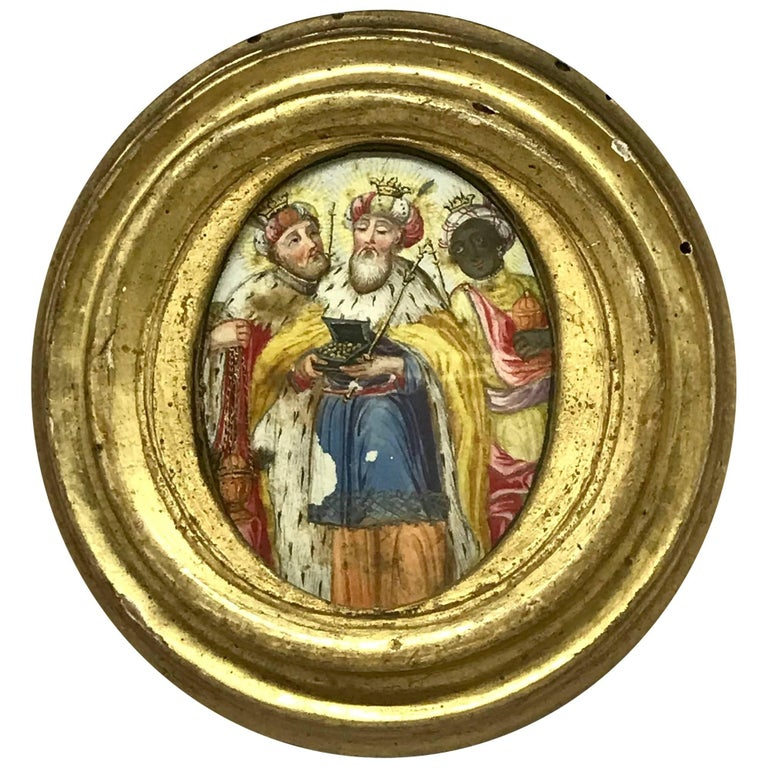 The Three Kings Miniature Painting For Sale