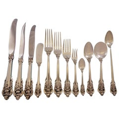 Grande Baroque by Wallace Sterling Silver Flatware Service 12 Set 157 Pcs Dinner