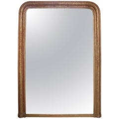 Large 19th Century Louis Philippe Gilt Mirror